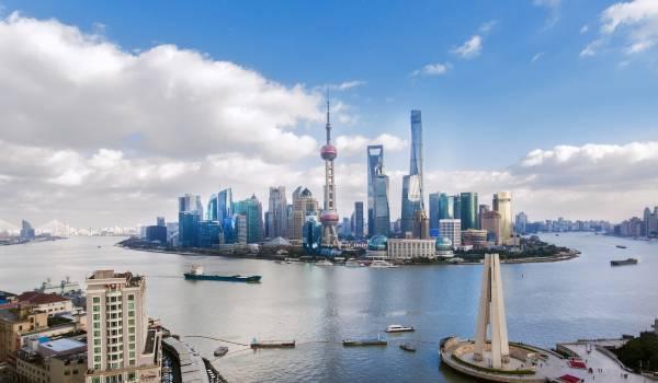 上海のビジネス街